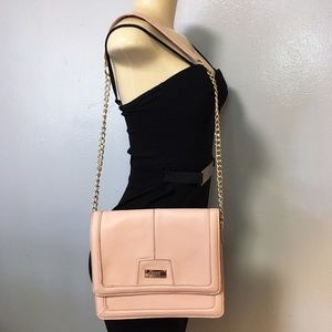 BCBG Shoulder Bag With Gold Chains Nude Color